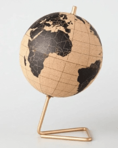 travel gifts for her cork globe
