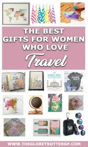 The best travel gifts for her! These 26 ideas for gifts for a traveler are bound to go down a treat. From wanderlusty clothing to travel inspired jewellery or even tickets for daytips whilsyt shes away. You'll get plenty of ideas with this holiday gift guide for girls who love travel #travel #christmas #travelgifts #giftguide #travelpresents #christmastravelgifts