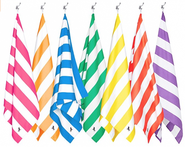travel gifts for her stripy towels