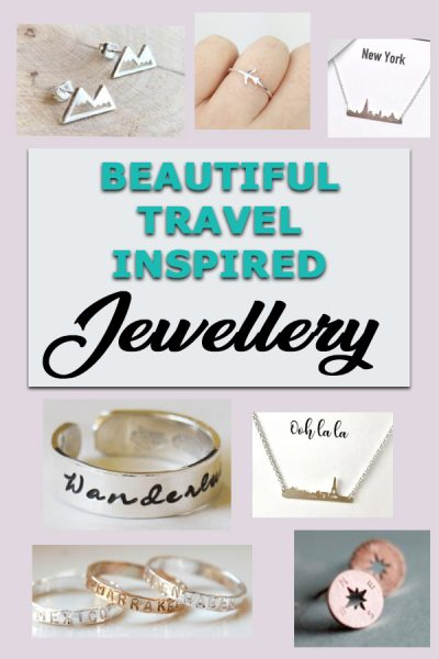 Beautiful travel inspired jewellery that you'll love. This round-up of beautiful travel jewellery from etsy will give you wanderlust! Great gifts for travellers  | jewellery for travellers | Jewelry for travelers | christmas gift guide for travel | christmas travel gifts |jewellery for women who travel #traveljewellery #jewelleryfortravellers #jewelryfortravelers #travelinspirejewellery #christmasgiftguide #xmasgiftguide