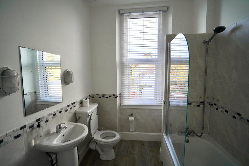 bathroom at 5 valley aparthotel stroud