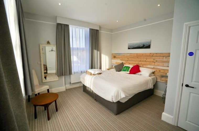 bedroom at 5 valleys aparthotel stroud michael paul holidays