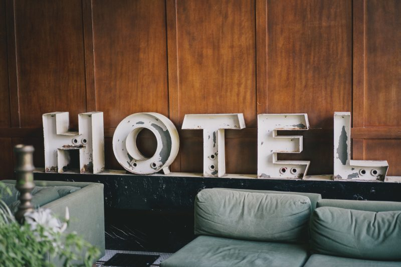 black friday deals on hotels - hotel sign