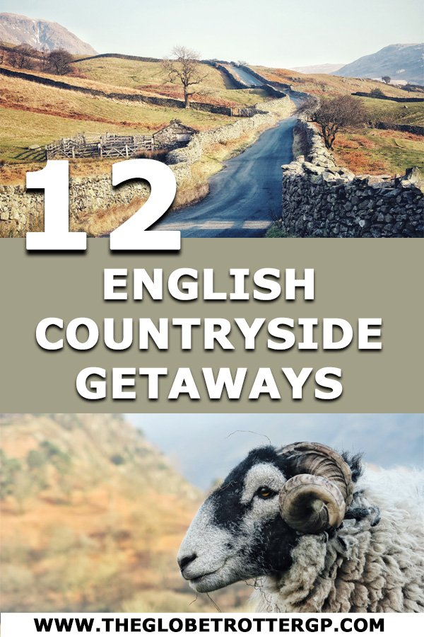 12 beautiful english countryside getaways to enjoy a weekend trip in England. From quaint villages to country walks, country manors and rolling hills #englishcountryside