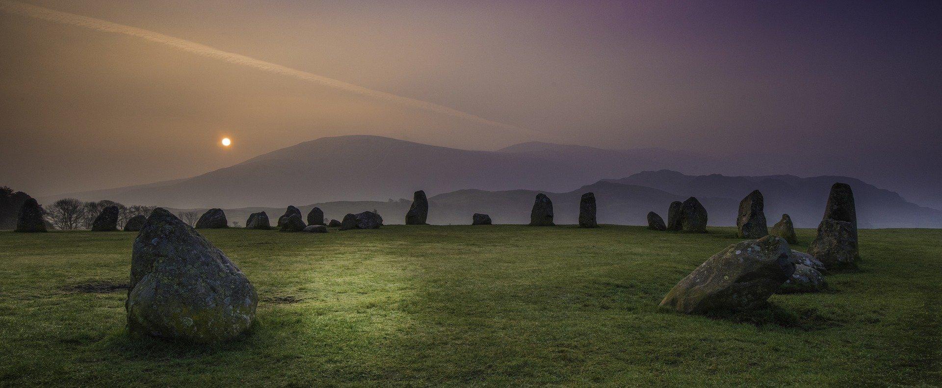 english countryside at dusk