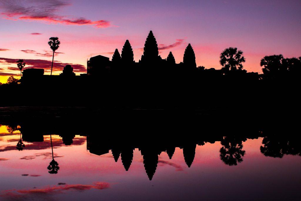 angkor wat at sunrise cambodia
