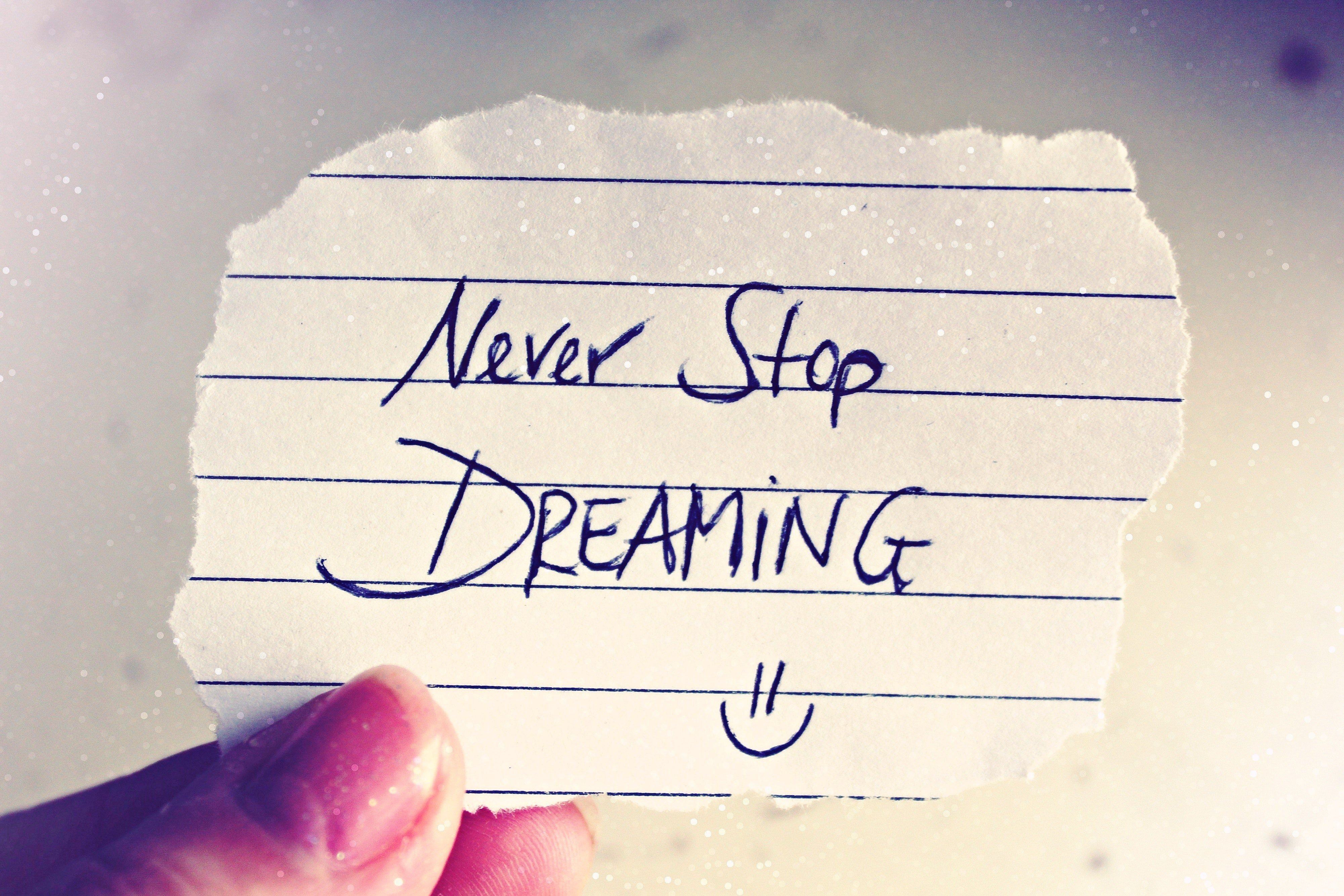 never stop dreaming slogan