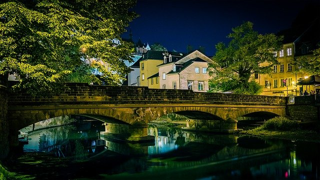 best city breaks for couples luxembourg at night