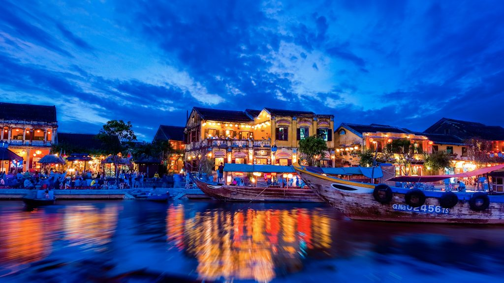 hoi an at night on a cambodia and vietnam tour