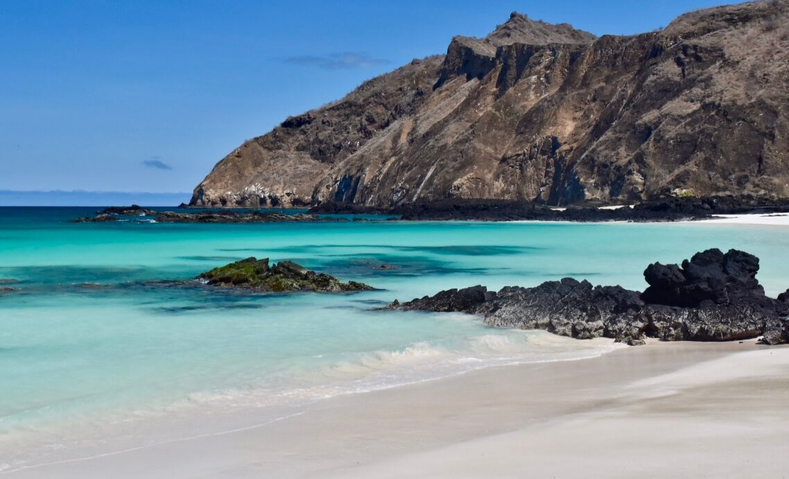 exotic white sand beach in the galapagos islands - bucket list experiences