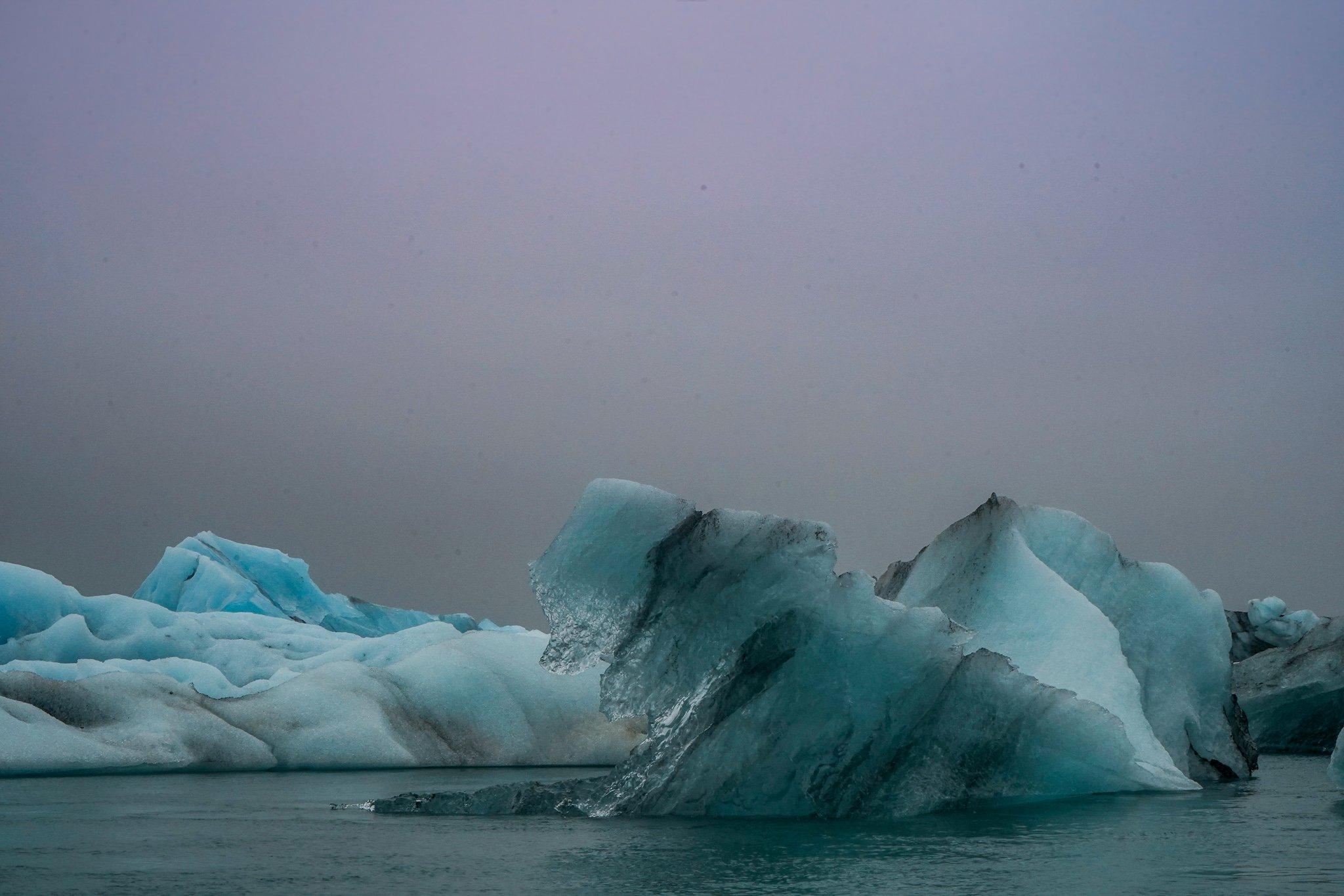 Jokulsarlon iceberg glacier lagoonfeatured in justin bieber music video