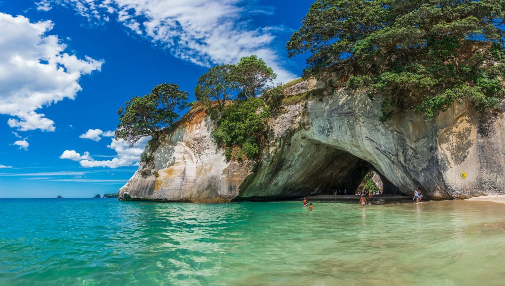 New zealand cathedral cove coromandel peninsula