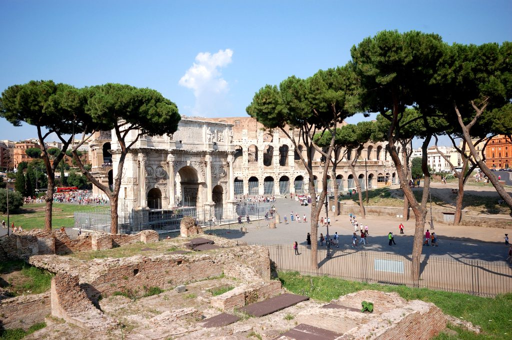 The Roman Forum on a sunny winters day