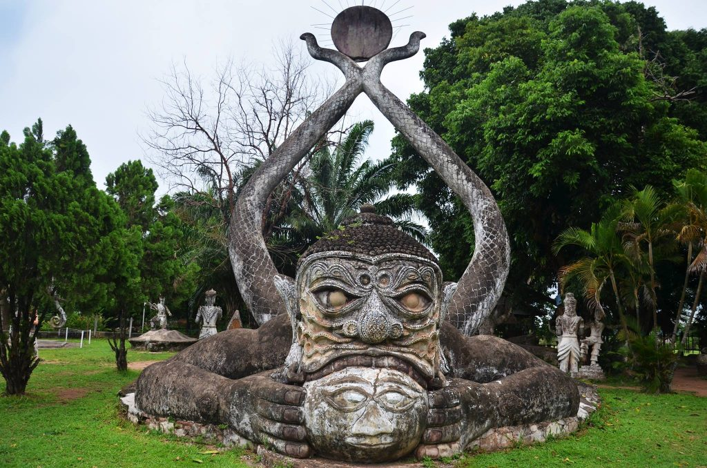 backpacking laos buddha park vientiane