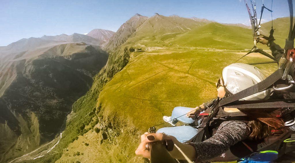 europe road trip Paragliding in georgia