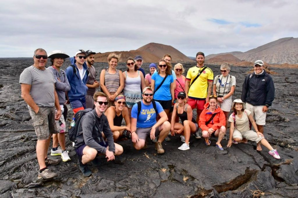 group travel for singles - group in the galapagos