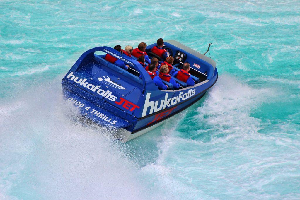 huka falls jetboating