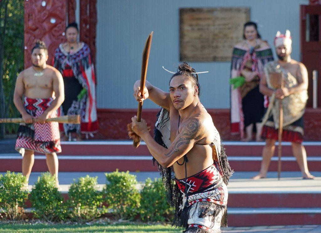 Maori dance routine