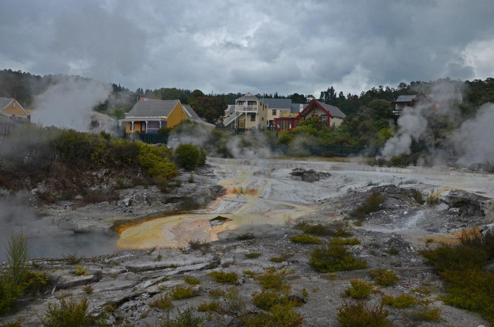 new zealand Whakarewarewa maori village