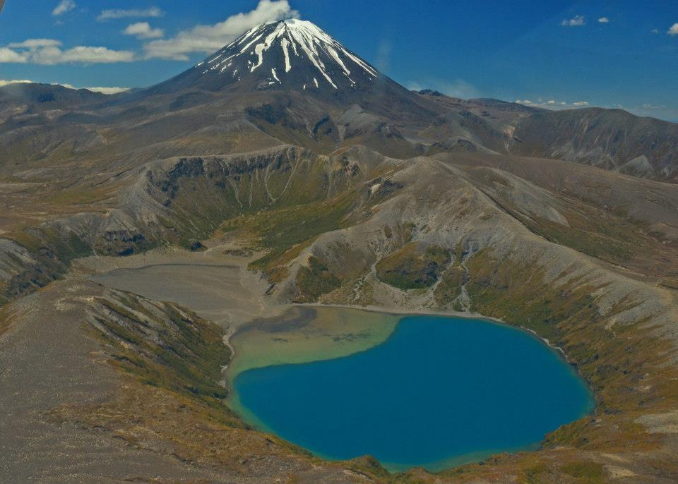 new zealand tongariro crossing from above - north island itinerary 7 days
