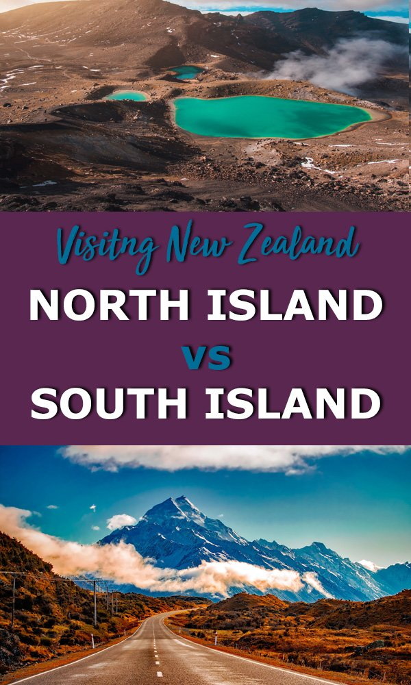 trying to decide between new zealand's north island and south island? Both islands in New zealand are incredibly beautiful but very different. Use this new zealand travel guide to help you choose between new zealands south island and north island! New Zealand north island vs south island #newzealand