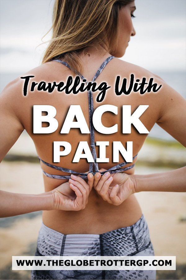 Travelling with a bad back - 30 tips for back pain sufferers from flying with back pain to back pain stretches to help improve your bad back. Tips from a doctor who travels with a bad back! #backpain