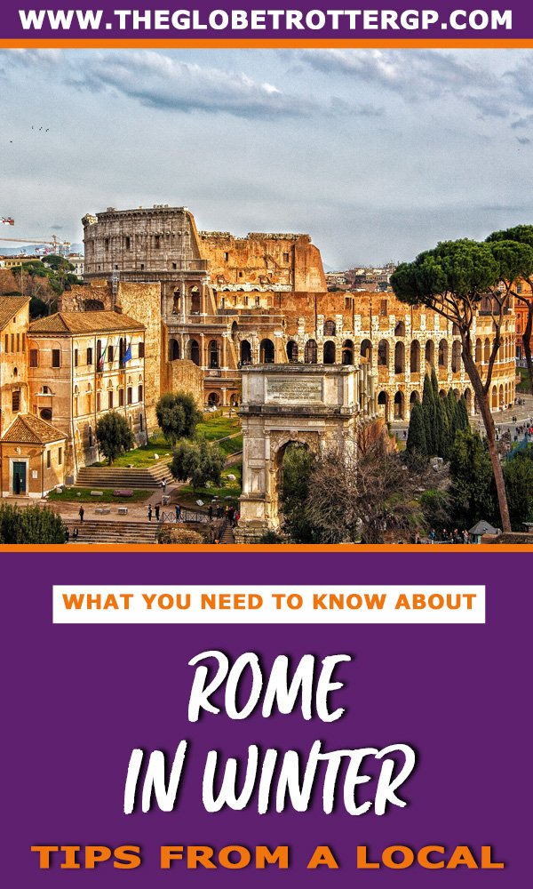 Visiting Rome in winter? Use this Rome city break guide to plan your troip to Rome with help from a local. Full of insiders tips from the best restaurants in rome to what to expect at christmas and NYE in Rome #winterinrome #rome #wintertravel