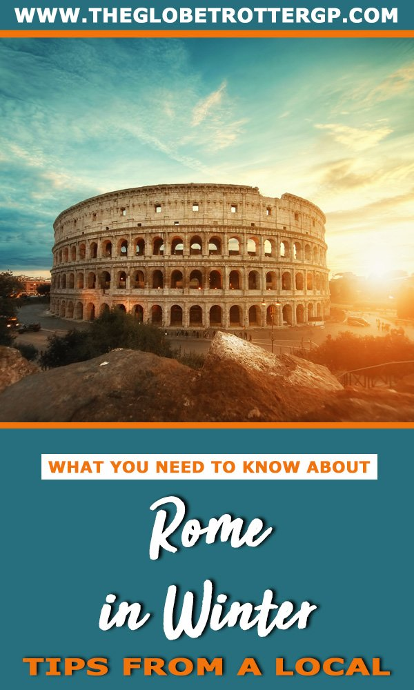 If you are visiting Rome in winter you need to read this Rome travel guide to help you plan the perfect city break in Europe. With Rome travel tips from a local  such as the best places to eat and festivals in rome in winter #winter #rome #romeinwinter #winterinrome