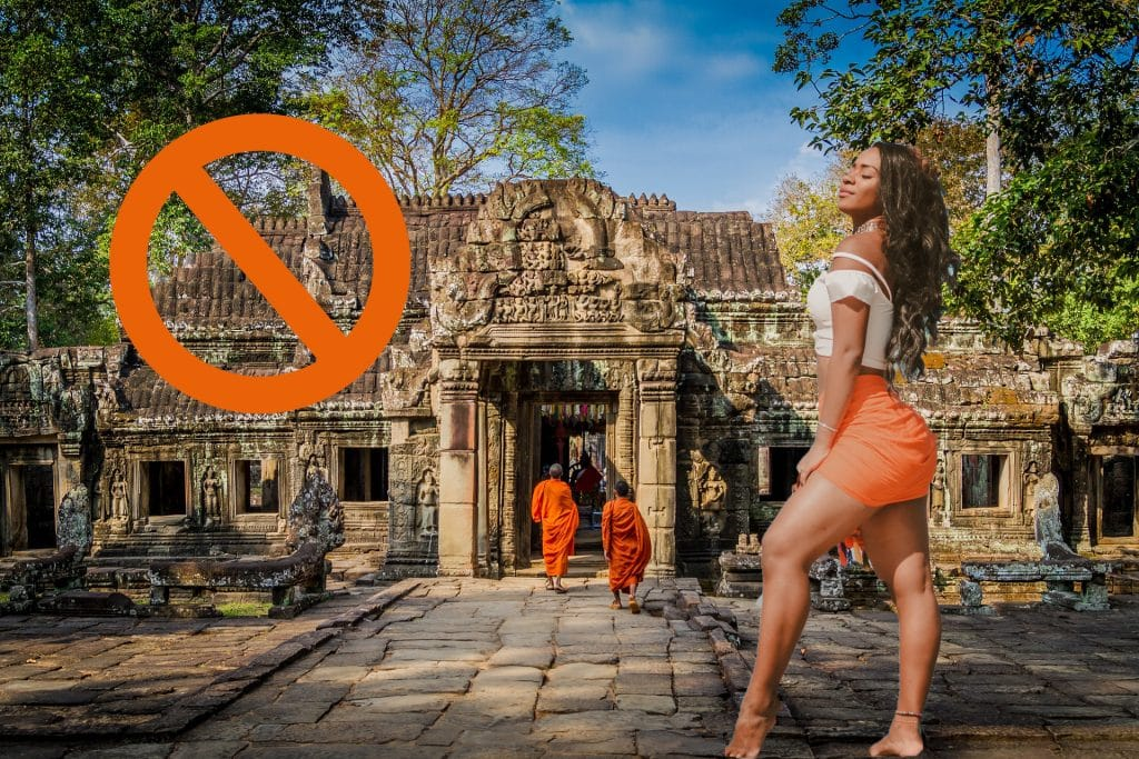 inappropriate clothes to wear at southeast asia temples