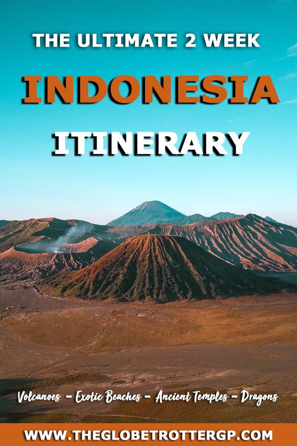Planning a 2 week Indonesia Itinerary? Make sure you see all the best bit from ancient temples to active volcanoes to exotic beaches and spotting dragons on Komodo island! This itinerary includes some of the top things to do in Indonesia.  Your ultimate Indonesia travel guide! #indonesia #southeastasia #seasia