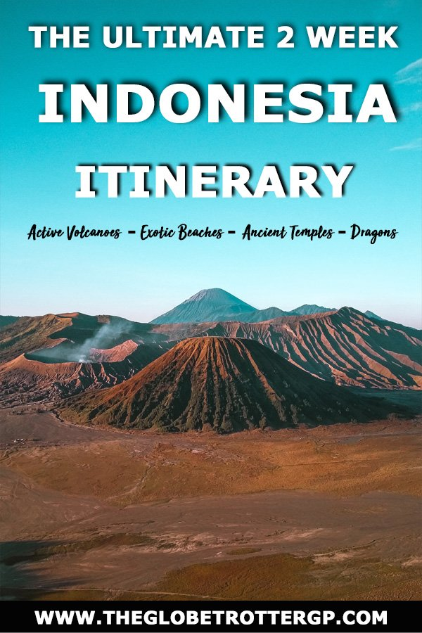 The ultimate 2 week indonesia itinerary to see exotic beaches, ancient temples, active volcanoes and dragons! See some of the best places in Indonesia for the perfect South East Asia Trip #indonesia
