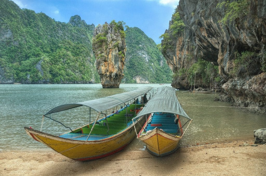 Koh Phangan nga bay thailand island hopping