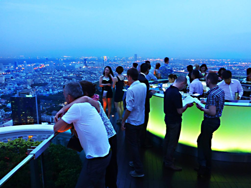 Enjoy a drink at a sky car in Bangkok for amazing city views - a must for your 10 day thailand trip