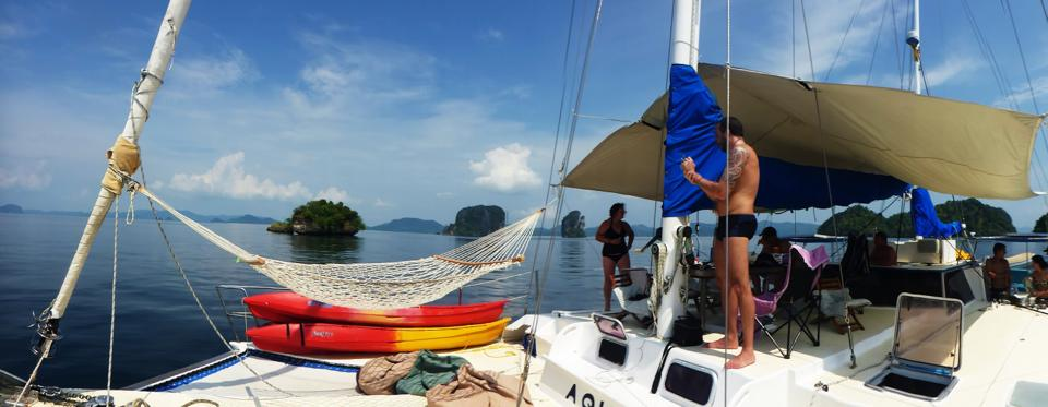 thailand island hoping on a catamaran