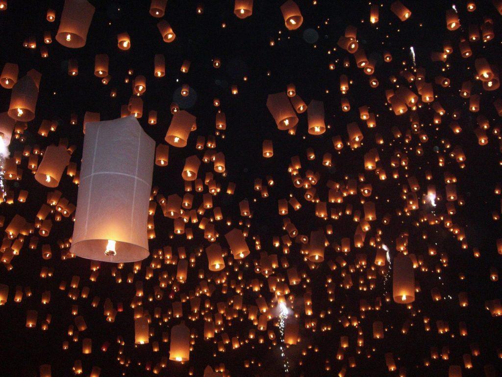 thailand lantern festival chiang mai
