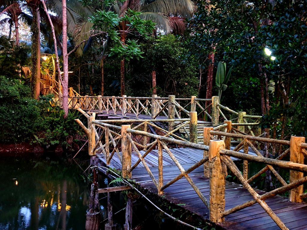 sepilok jungle resort at night