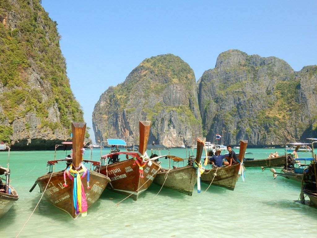 Thailand long tail boats