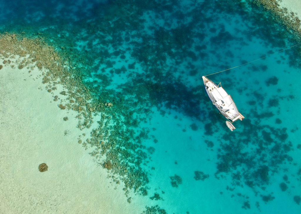 maldives g adventures dhoni cruise boat from above