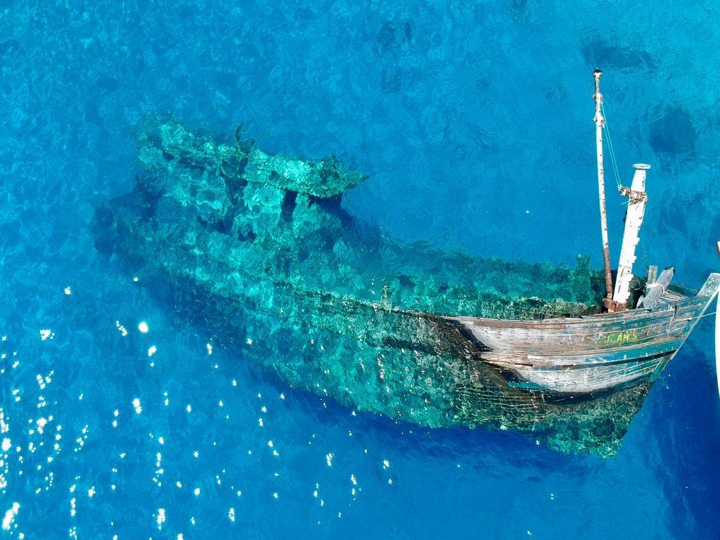 maldives wreck via drone