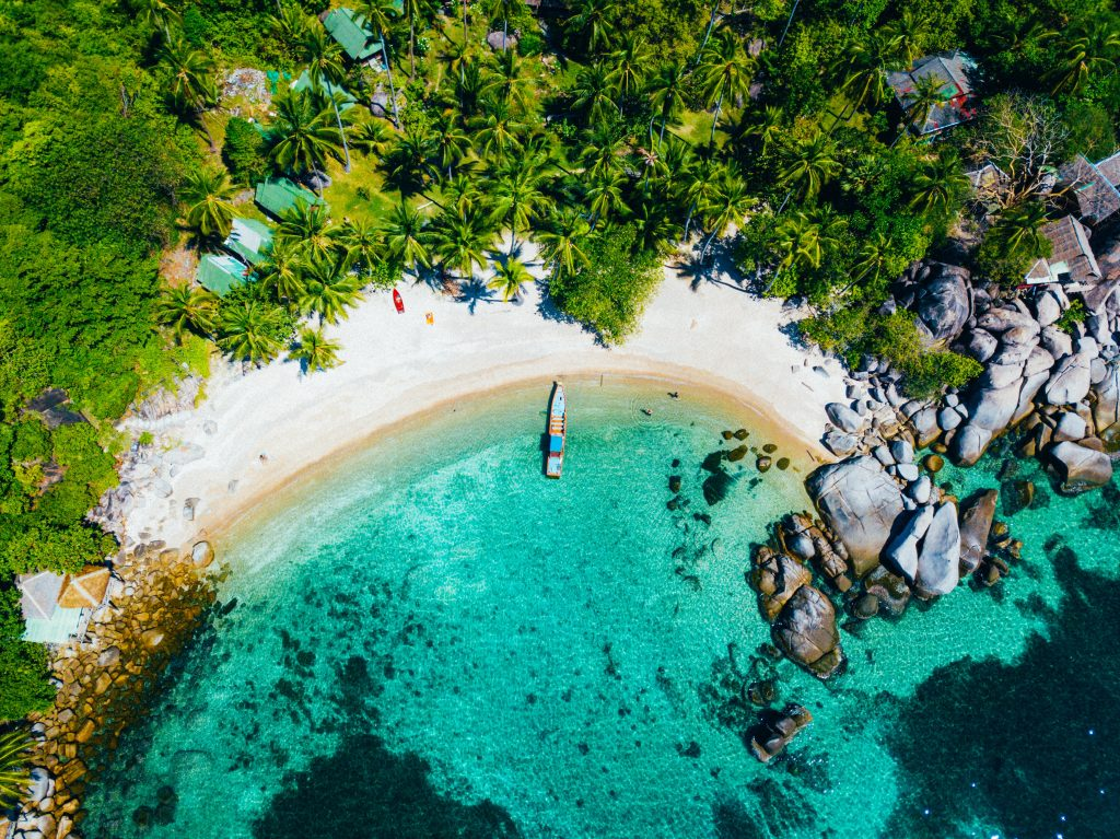 thaialnd beach from above