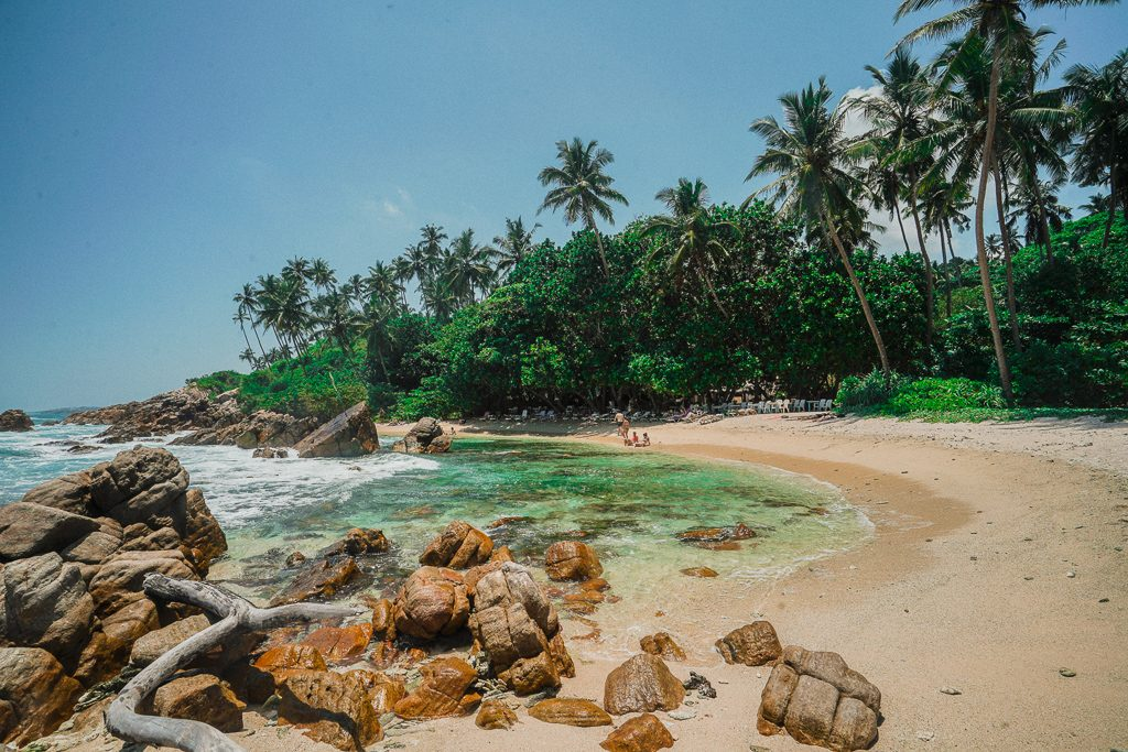 Secret beach in mirissa, sri lanka