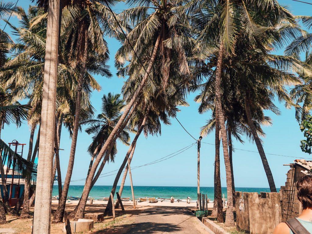 Trincomalee beach on the east coast of sri lanka