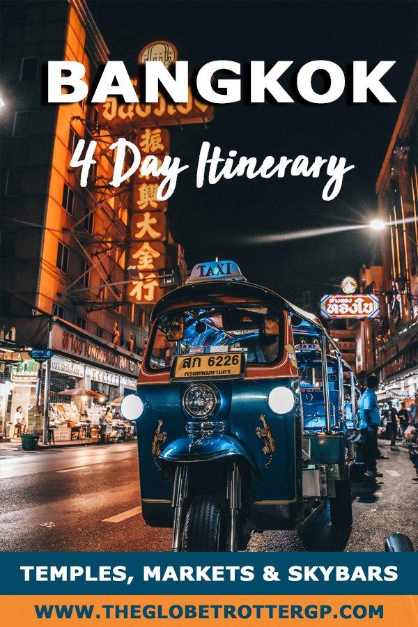 Bangkok itinerary for 4 days