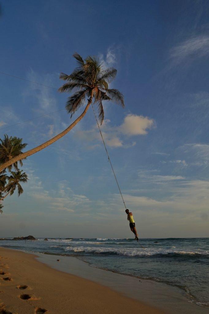 dalawella beach swing during the day