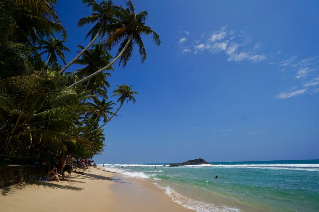 dalawella beach, sri lanka, in the sunshine