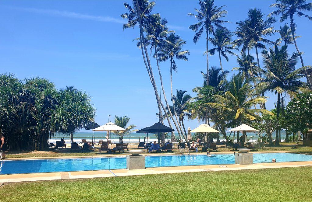 mandara resort in mirissa swimming pool in front of beach