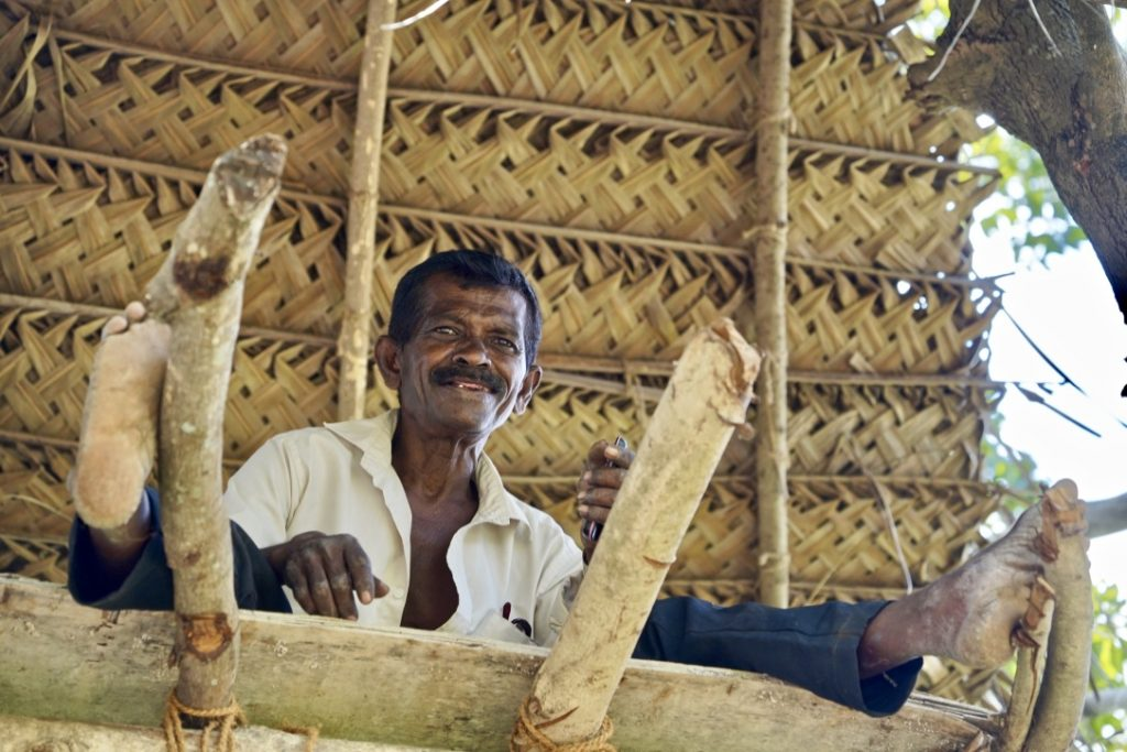 farmer in sri lanka on a village tour