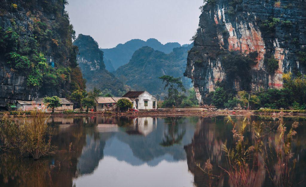 vietnam lake scene