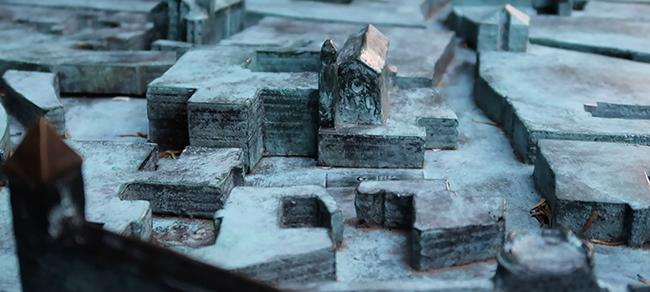 3D Bronze Map of Trento 2