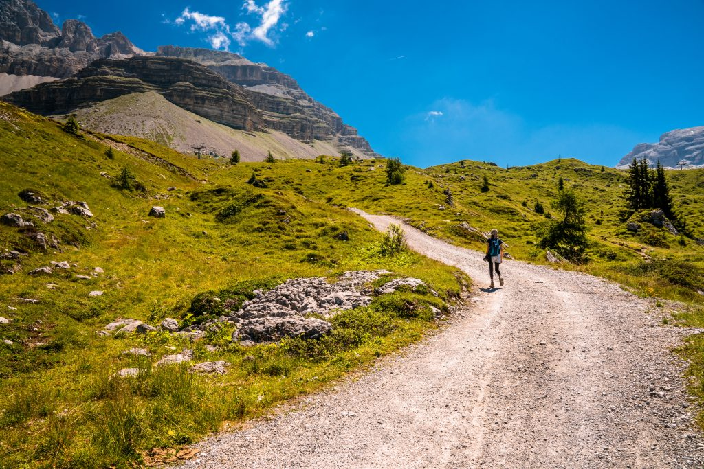 Hiking in trentino in the summer